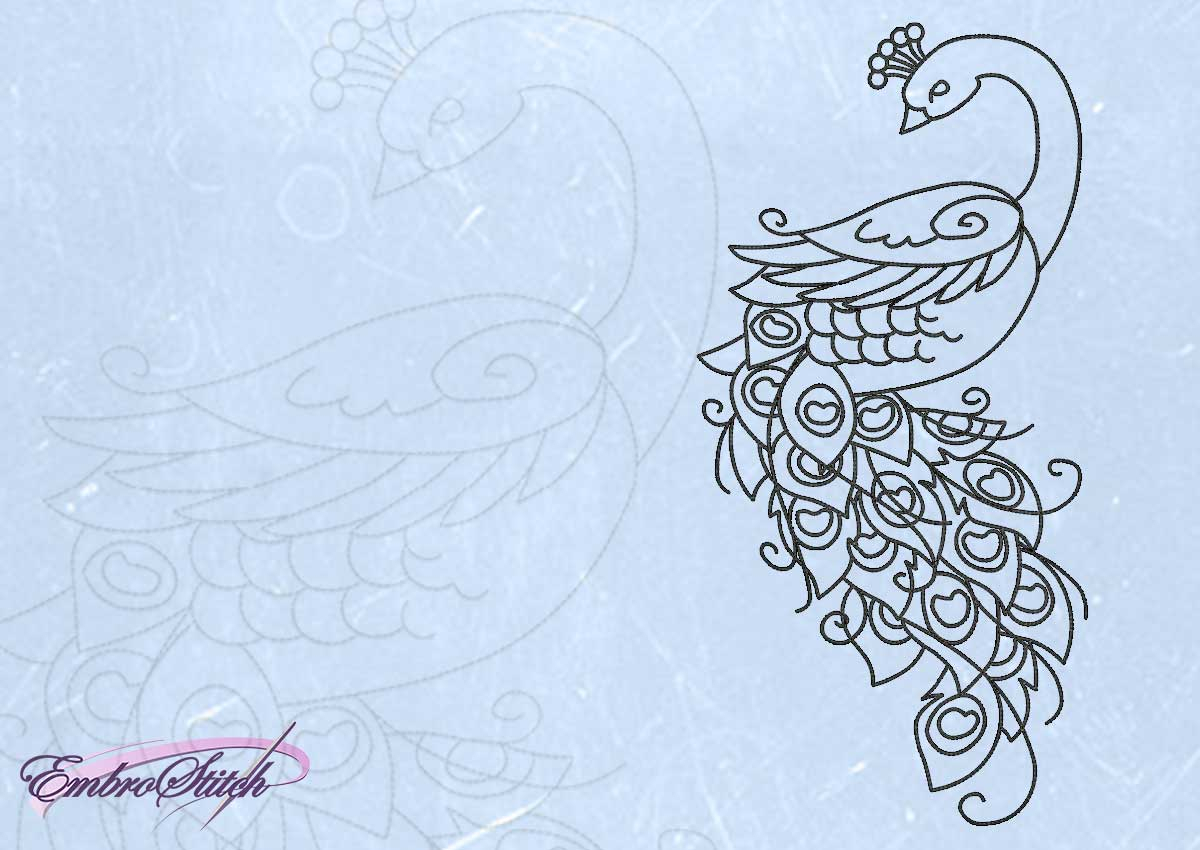 Peacock Embroidery Patterns Outline Animals Pack Of Embroidery Designs 11 Qty