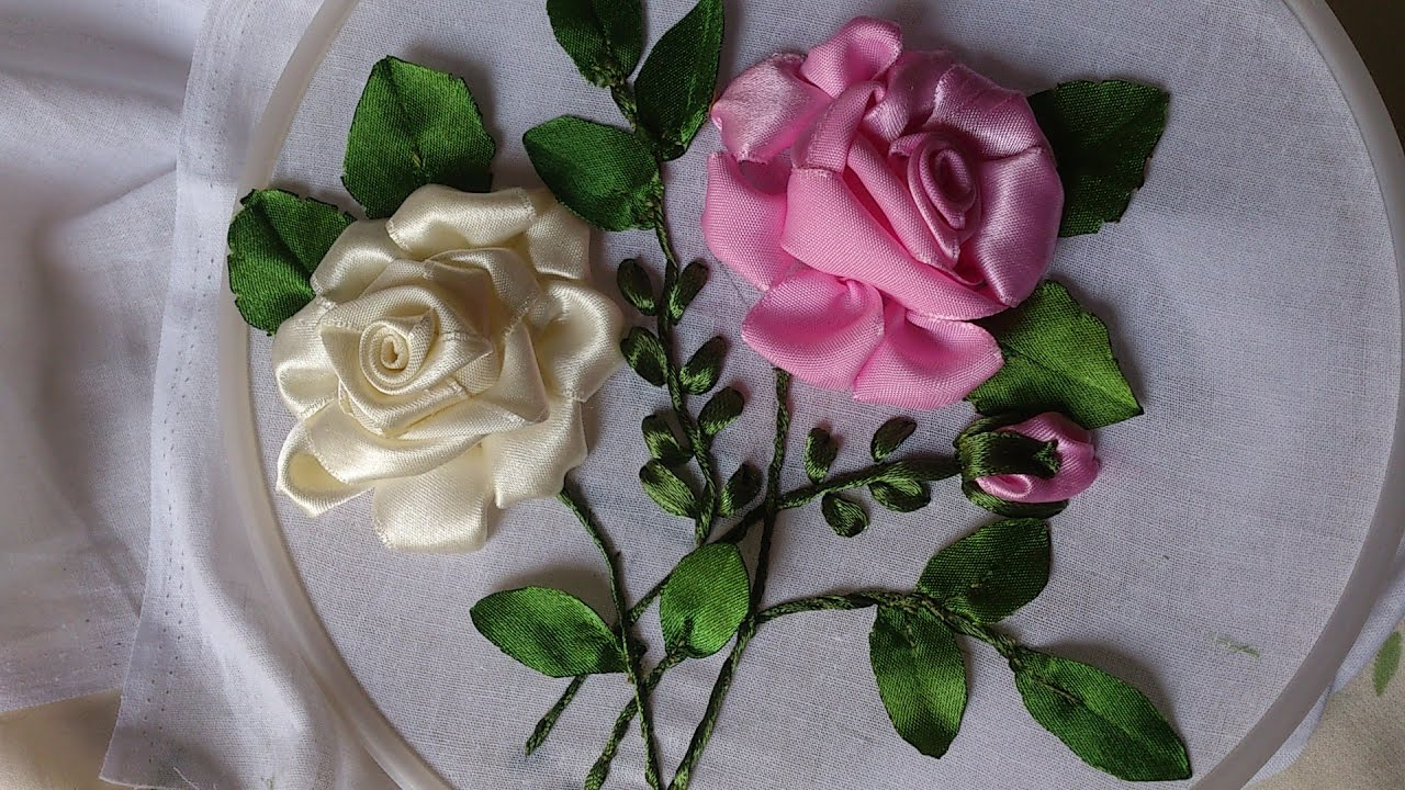 Ribbon Embroidery Patterns Free Hand Embroidery Designs Ribbon Embroidery Hand Tutorial Ribbon Roses