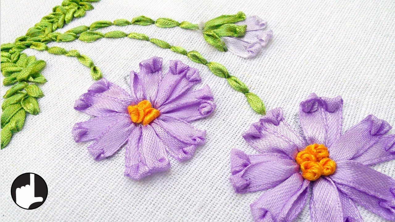 Ribbon Embroidery Patterns Free How To Make Ribbon Embroidery Design Hand Handiworks 36