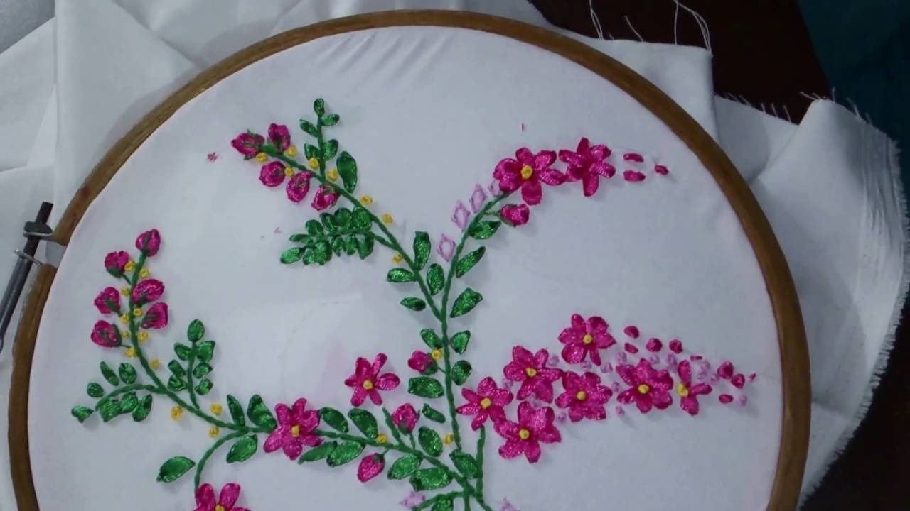 Ribbon Embroidery Patterns Free Ribbon Embroidery Tutorial