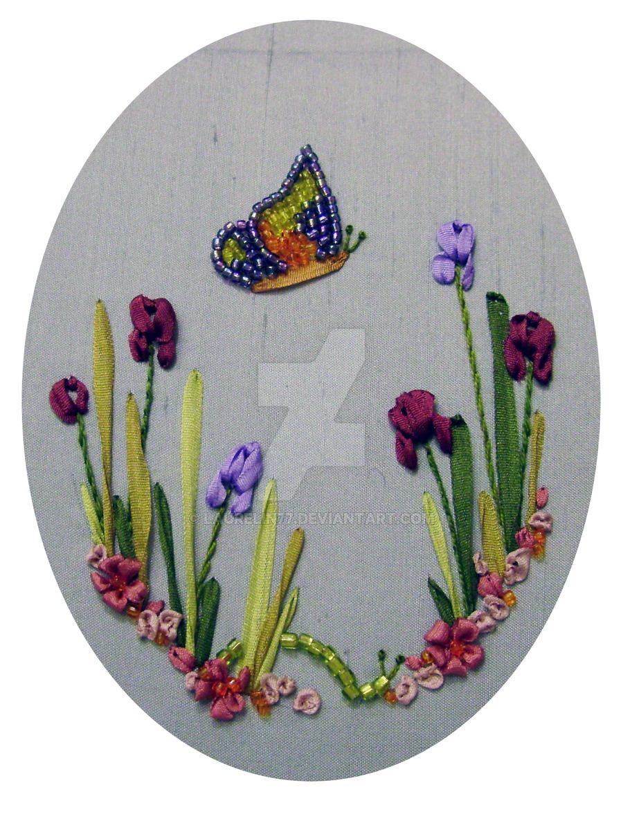 Ribbon Embroidery Patterns Free Silk Ribbon Embroidery Kit Laurelin77 On Deviantart