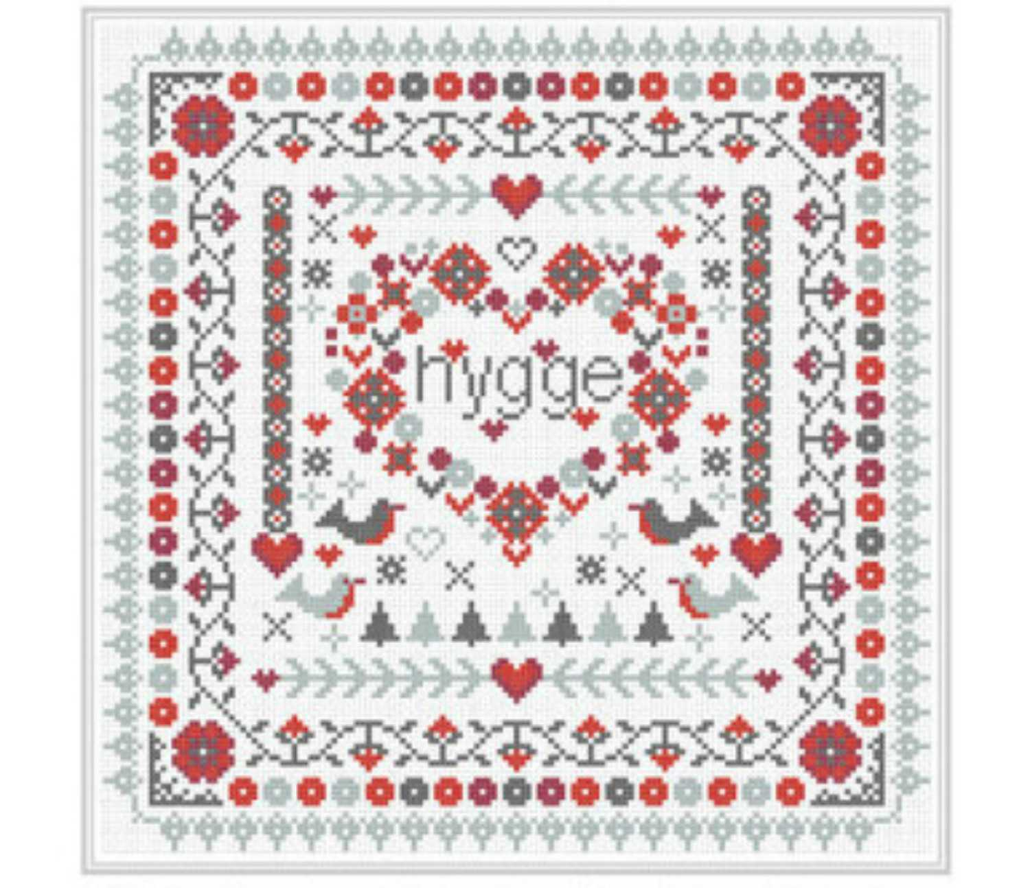 Scandinavian Embroidery Patterns 10 Hygge Inspired Cross Stitch Patterns