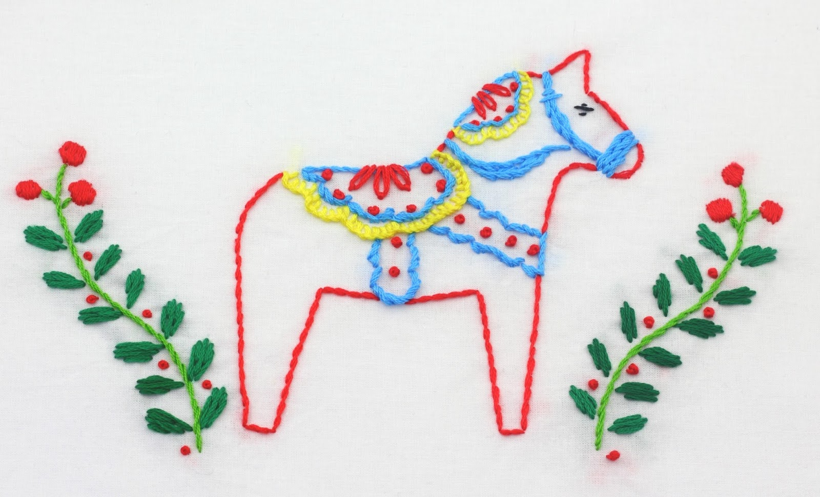 Scandinavian Embroidery Patterns Big B Dala Horse Embroidery