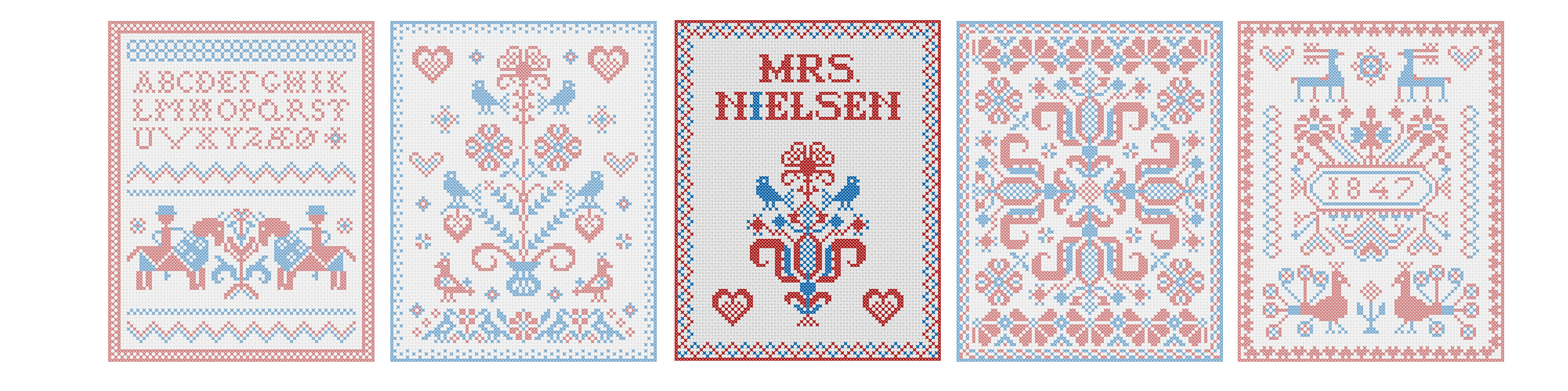 Scandinavian Embroidery Patterns Mrs Nielsen Embroidery Scandinavian Cross Stitch Embroidery Patterns