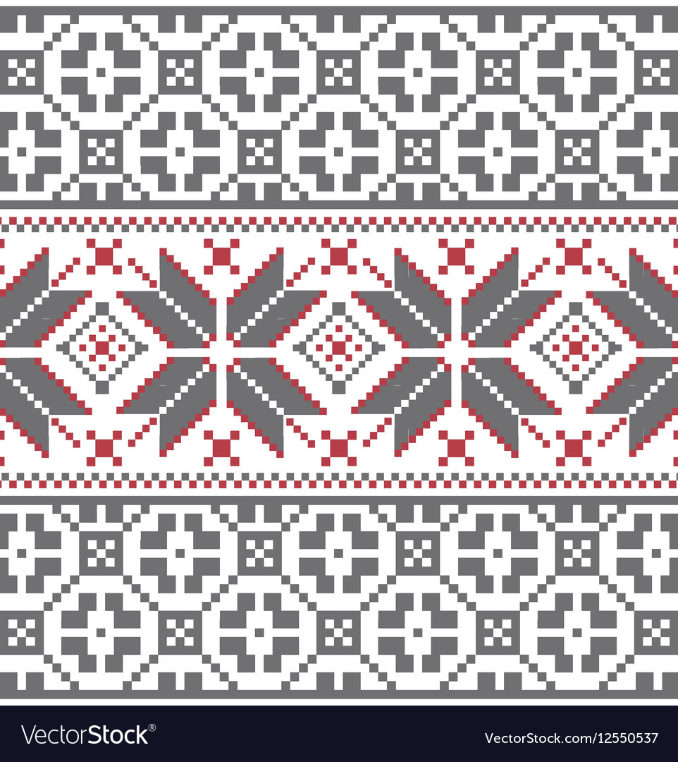 Scandinavian Embroidery Patterns Scandinavian Winter Embroidery Pattern