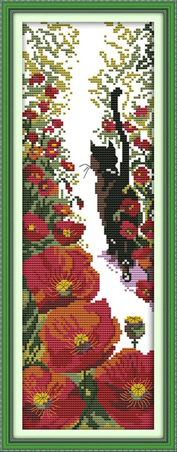 Stamped Embroidery Patterns Captaincrafts Hots Cross Stitch Kits Patterns Embroidery Kit Red