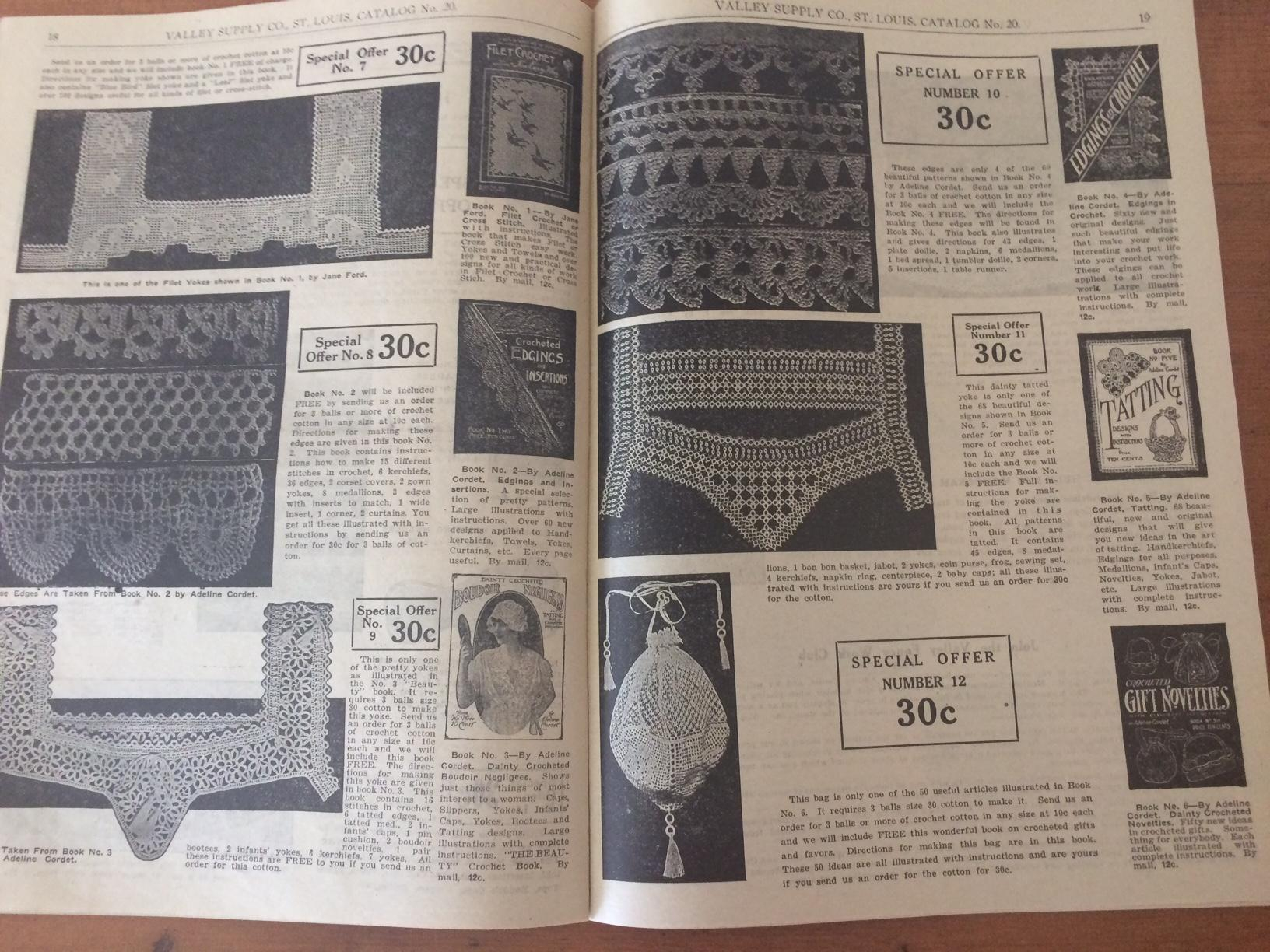 Stamped Embroidery Patterns Catalog No 20 Fancy Goods Stamped Goods