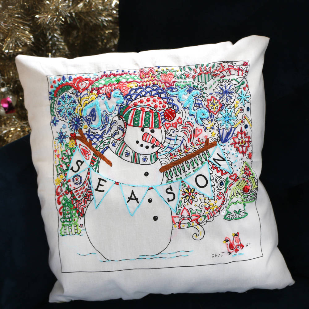 Stamped Embroidery Patterns Festive Embroidery Patterns Blitsy