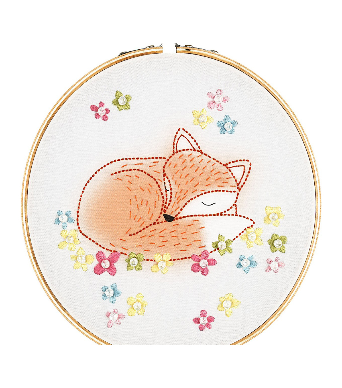 Stamped Embroidery Patterns Needle Creations Make It Easy Peasy 6 Stamped Embroidery Hoop Kit Fox