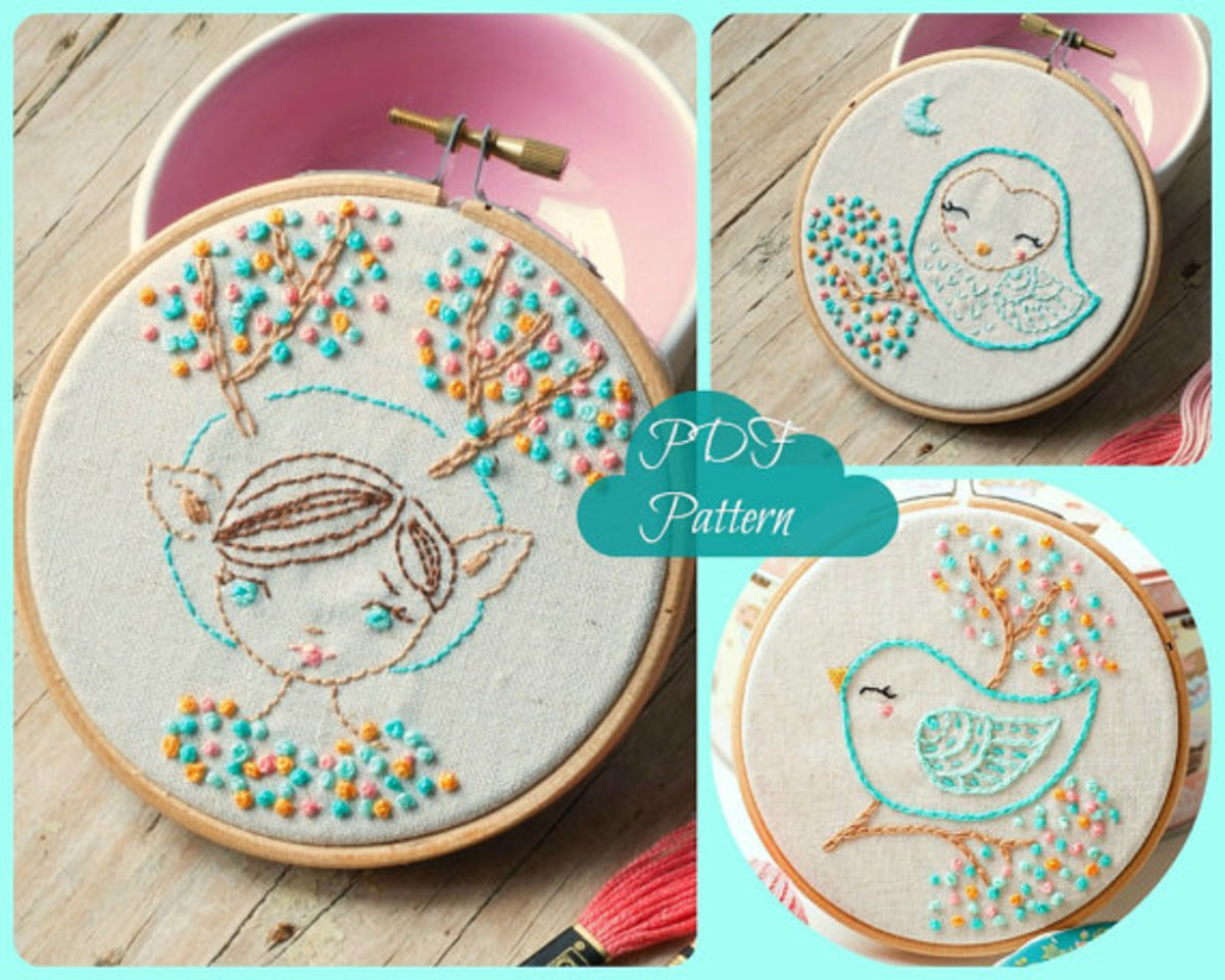Stamped Embroidery Patterns Not Your Grandmas Embroidery Patterns A Modern Twist On An Old