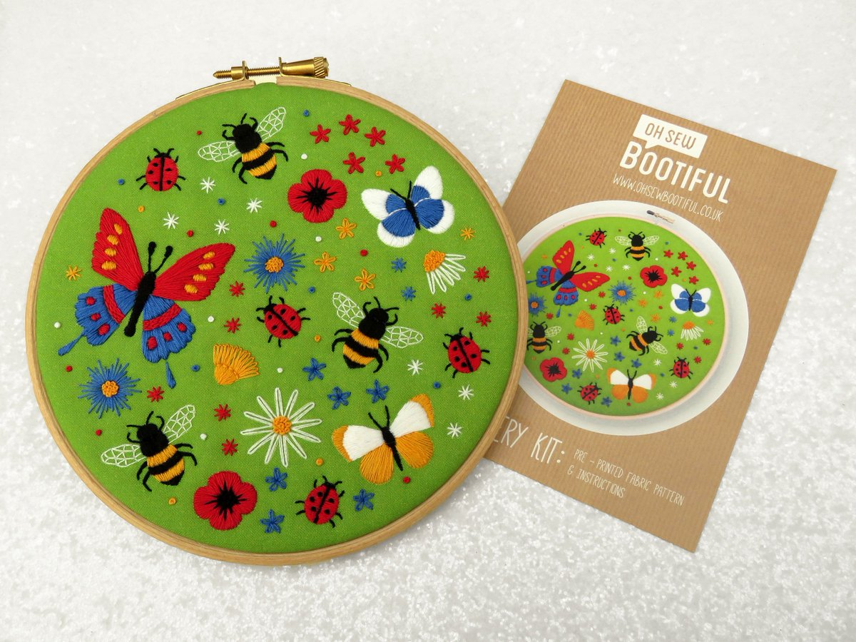 Stamped Embroidery Patterns Oh Sew Bootiful On Twitter Bees And Butterflies Embroidery Pattern