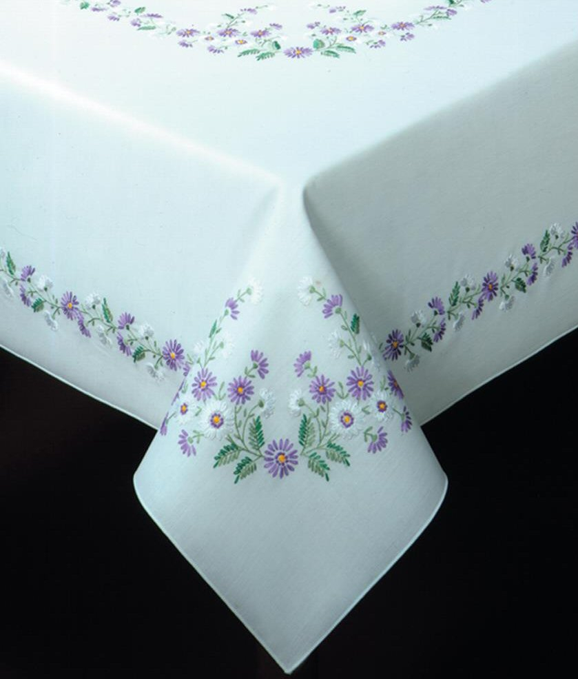 Stamped Embroidery Patterns Traced Linen Table Cloths Other