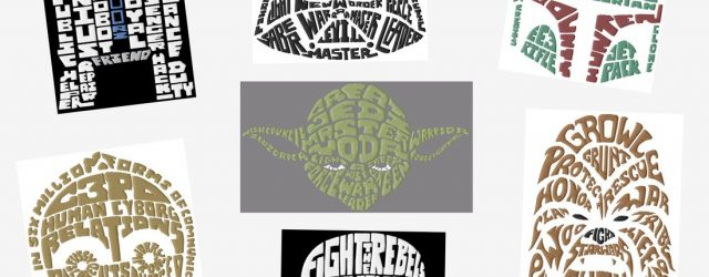 Star Wars Embroidery Pattern Jumbo Star Wars Text Art Embroidery Designs Set 2 Sizes