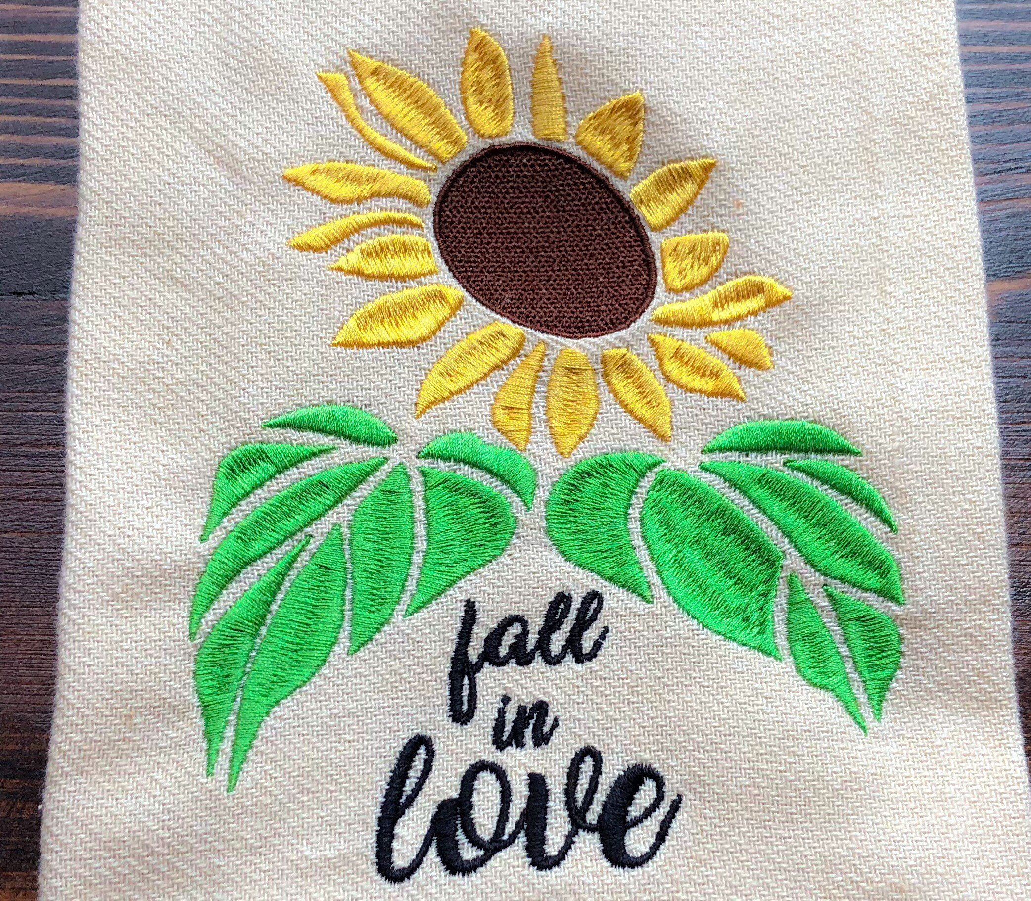 Sunflower Embroidery Pattern Fall In Love Sunflower Embroidery Design Sizes Available 6x10 5x7 Instant Digital Download