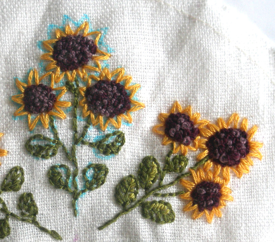 Sunflower Embroidery Pattern Fiberluscious Blocking Your Embroidery