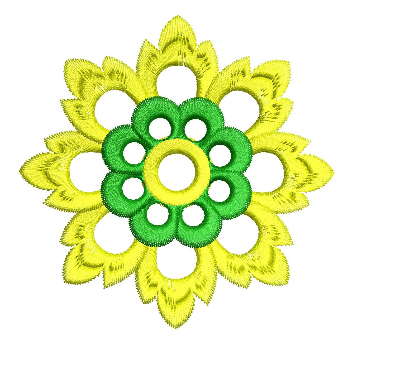 Sunflower Embroidery Pattern Floral Machine Embroidery Design Embroideryshristi
