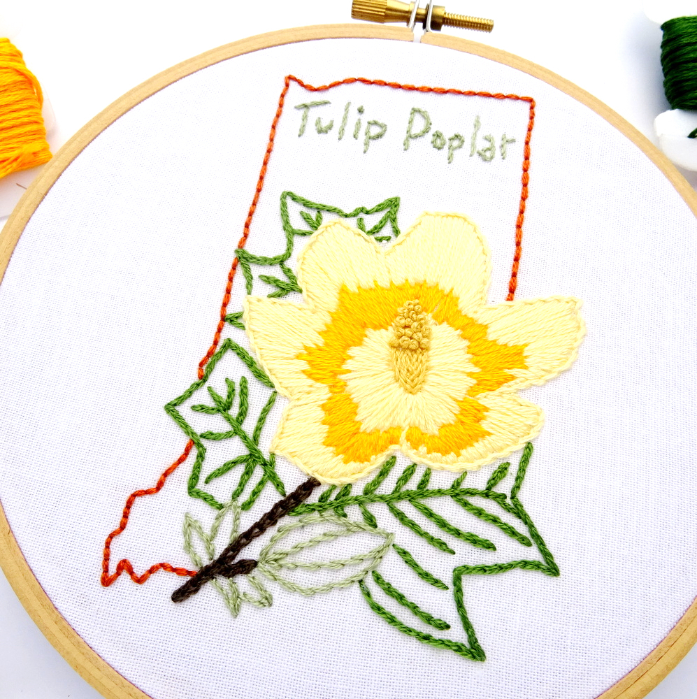 Sunflower Embroidery Pattern Indiana Hand Embroidery Pattern