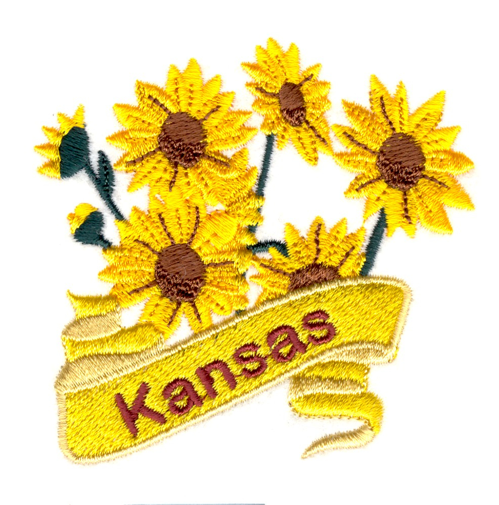 Sunflower Embroidery Pattern Kansas Sunflower Embroidery Design