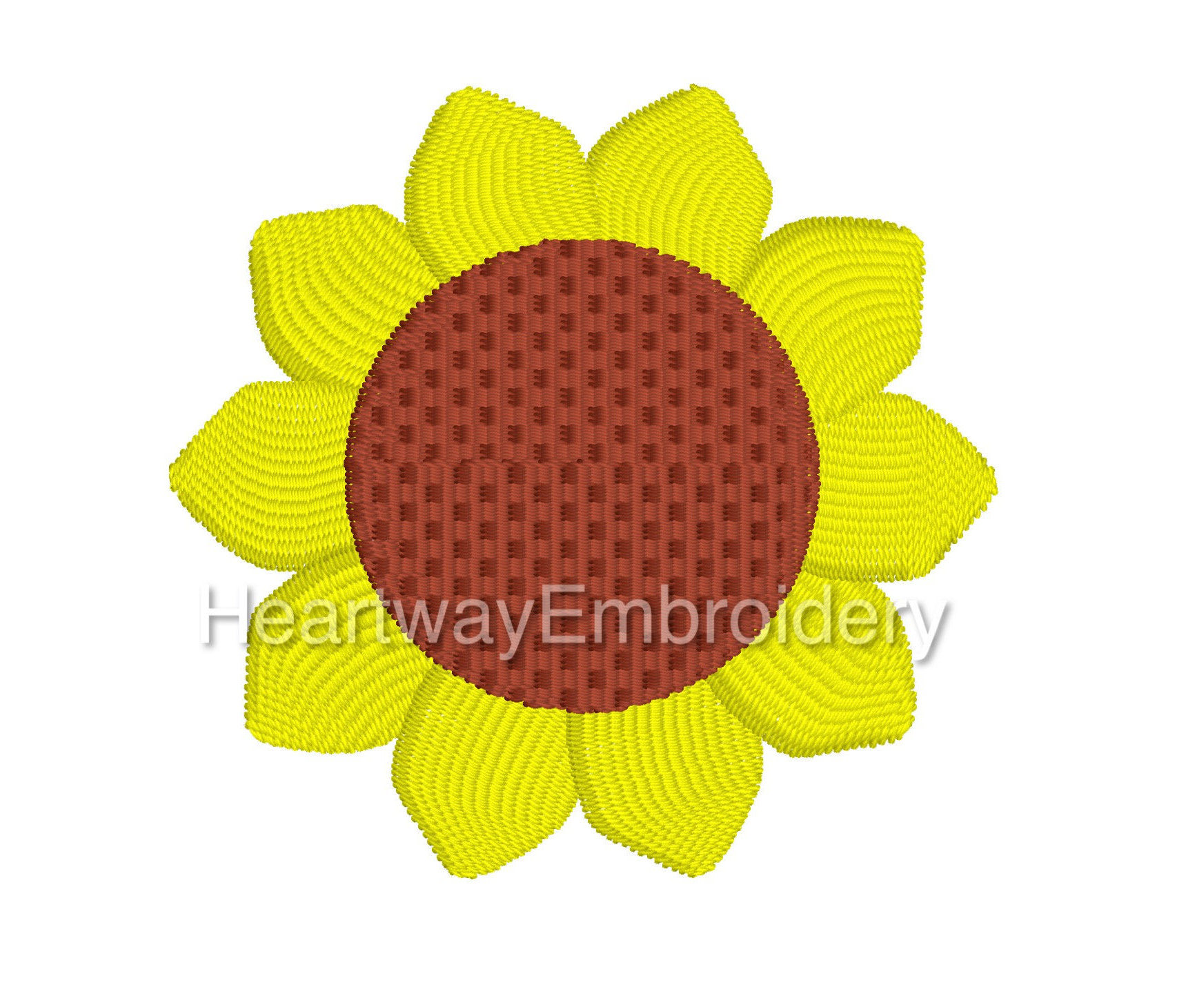 Sunflower Embroidery Pattern Mini Sunflower Embroidery Design 3 Sizes Filled Embroidery Design Mini Embroidery Design Yellow Flower Embroidery Sun Flower Embroidery