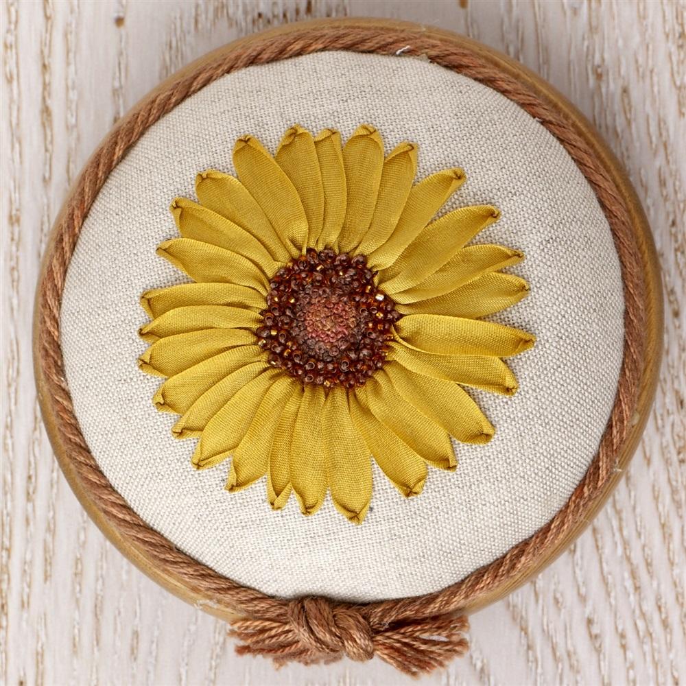 Sunflower Embroidery Pattern Pp18 Sunny Sunflower Pattern Print