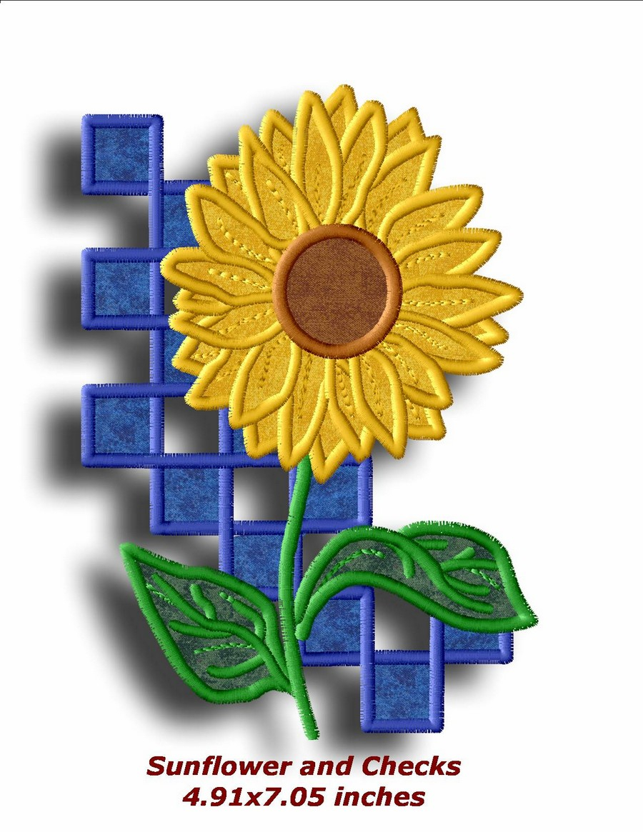 Sunflower Embroidery Pattern Sunflower Appliques