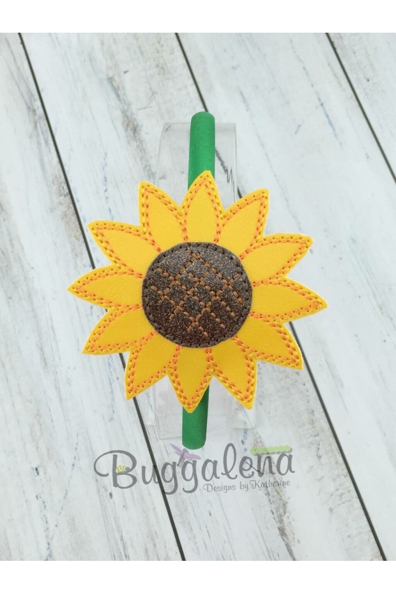Sunflower Embroidery Pattern Sunflower Buggaband Headband Slider Embroidery Design