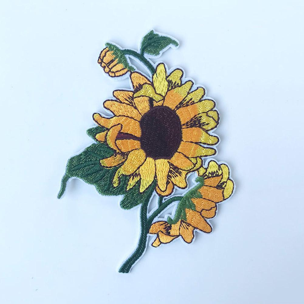 Sunflower Embroidery Pattern Sunflower Embroidery Sewing On Hat Or Clothes Cloth Stickers 913cm