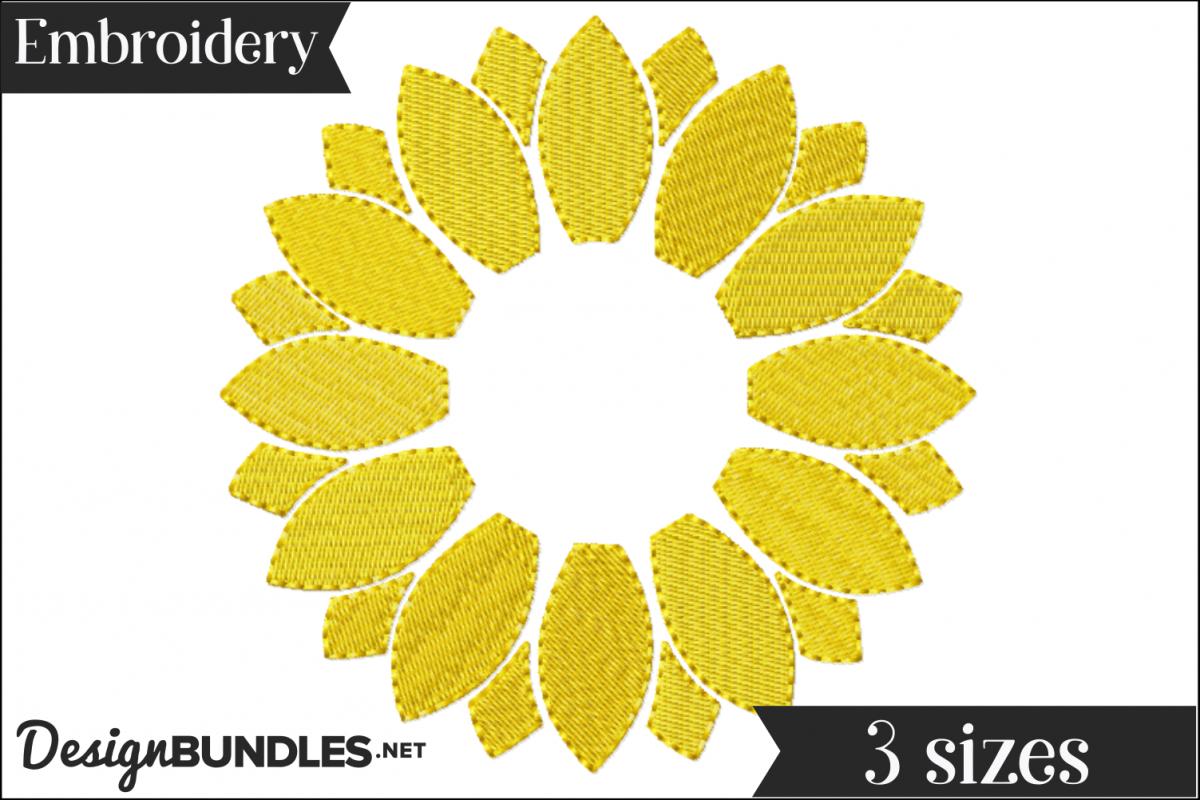 Sunflower Embroidery Pattern Sunflower Monogram Frame Embroidery Design