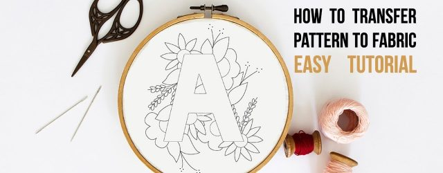 Transfer Patterns For Embroidery How To Transfer Pdf Embroidery Pattern To Fabric Using Home Printer